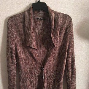 Women's Nic + Zoe F35 Brown Cardigan Size S